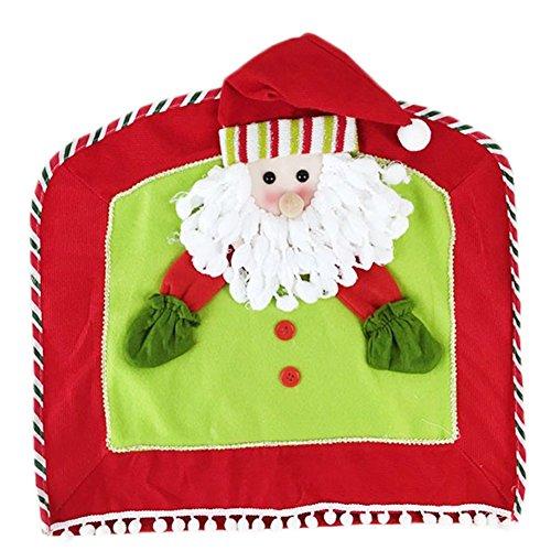 Emorias 1 PCS Housses de chaises Salon Noël protecdor Meubles Moderne bâches pour Chaise Amovible Cuisine décoration 47 * 46CM Style 1