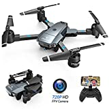 SNAPTAIN A15H Foldable FPV WiFi Drone w/Voice Control/120°Wide-Angle 720P HD Camera/Trajectory Flight/Altitude Hold/G-Sensor/3D
