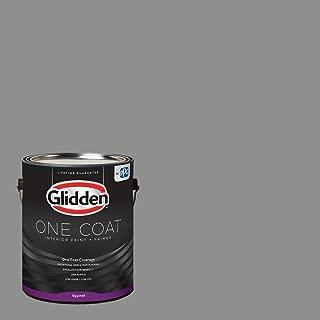 Glidden Interior Paint + Primer: Gray/Phoenix Fossil, One Coat, Eggshell, 1 Gallon
