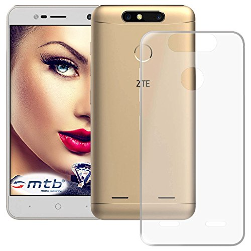 mtb more energy® Schutz-Hülle Clear und Slim für ZTE Blade V8 Mini (5.0'') - transparent - flexibel - TPU Silikon Hülle Cover Tasche