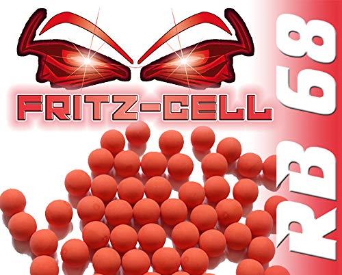 100 x Rubberballs Cal.68 Gummigeschosse Fritz-Cell kompatibel mit T4E HDS68