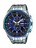 Casio EDIFICE Reloj en caja sólida, 10 BAR, Azul/Negro, para Hombre, con Correa de Acero inoxidable, EFR-549D-1A2VUEF