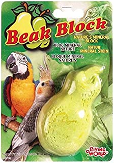 Living World Mineral Block, Pear (for Cockatiels), 75 Grams