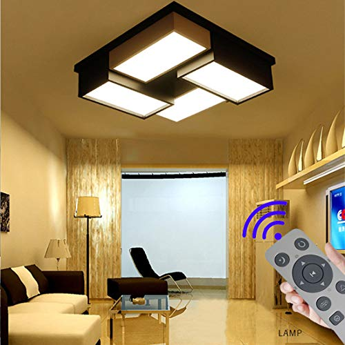 BFYLIN 72W Regulable LED Lámpara Moderna Del Techo Lámpara De Techo Pasillo Salón Dormitorio De La Lámpara Ahorro De Cocina Ahorro De Energía Luz