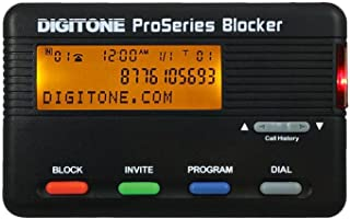 Digitone ProSeries Call Blocker - Millions of Pre-Loaded Blocked Numbers, Back-Lit Display, Block Names or 1,000 Numbers, Last Call Remote Entry