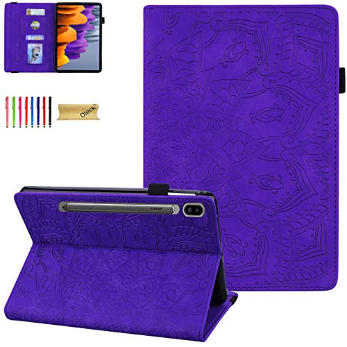 Dteck for Samsung S7 Tablet Case, Galaxy Tab S7 11' Case 2020 SM-T870, PU Leather Stand Folding Folio Shockproof Protective Tablet Case for Samsung Galaxy Tab S7 11' 2020 Tablet, Purple