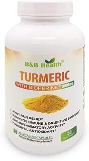 Turmeric Curcumin Max Potency 95 Curcuminoids 1600 Milligram With Black Pepper - BioPerine - Non-GMO - Natural Anti Inflam...