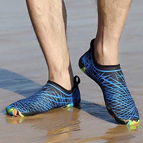 Nishore Homens Mulheres Sapatos de Água Esportes Secagem Rápida Com Os Pés Descalços para Natação Mergulho Surf Aqua Piscina Praia Andar Sapatos de Exercício de Yoga