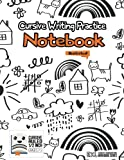 Cursive Writing Practice Notebook: An illustrated 1/2-inch ruled notebook for kids