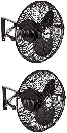 Air King 20 1 6 HP 3 Speed Non Oscillating Enclosed Wall Mount Fan 2 Pack product image