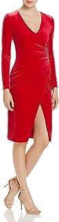 Black Halo Womens 2729881 Miramar Sheath Long-Sleeve Dress - red