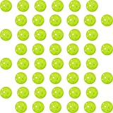 GP (ジーピー) 野球 バッティング トレーニングボール 穴あき PE素材 蛍光緑 72mm 48個入り