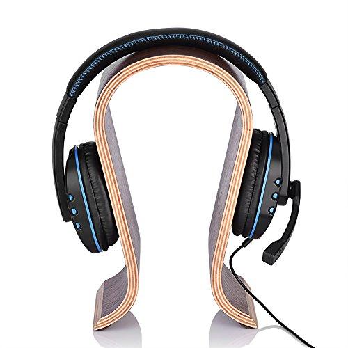 DELMO U-Vormige Headsetstandaard Houten Koptelefoonstandaard Hanger Bureau-Display Plank Rek