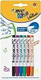 BIC Kids Mini Velleda rotuladores Pizarra Blanca punta fina - colores Surtidos, Blíster de 6 unidades