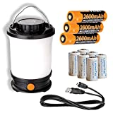 Fenix CL30R 650 Lumen Rechargeable LED Camping Lantern with 3X Rechargeable Batteries Included & 6X LumenTac CR123A Batteries