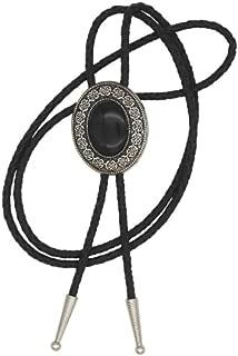 KeCol Native American Art Indian Stone Necklace Bolo Tie