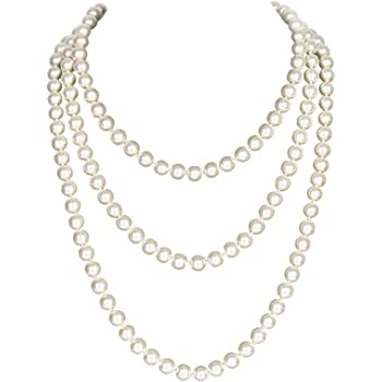 22-24 Silvertone Chain with Synthetic Pearls /& Charm Pendant Necklace /& Earring Set