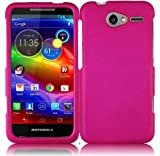 Pink Hard Case Snap On Rubberized Cover For Motorola Electrify M XT901