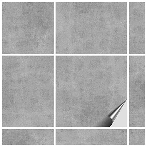 FoLIESEN Fliesenaufkleber 20x20 cm für Bad, Küche, Badezimmer - Fliesen-Folie selbstklebend - 60 Klebefliesen, *:Dekor Greydi