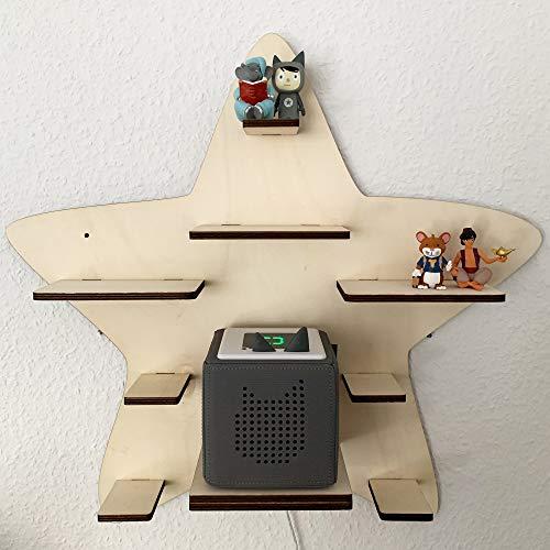 DIY Regal Stern für die Musikbox passend für Toniebox Kinder Baby Zimmer zum selbst bemalen mit Wunschname tolles individuelles Geschenk Geburtstag Ostern Weihnachten