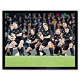 New Zealand Rugby Legends World Cup Haka Photo Art Print Framed Poster Wall Decor 12x16 inch Nouvelle-Zélande Légende Monde Photographier Affiche Mur Déco
