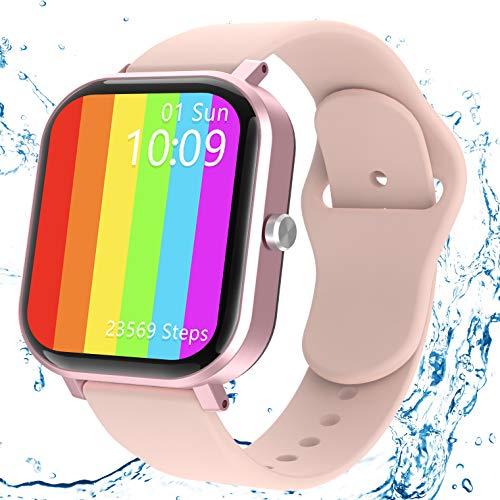 Smartwatch Mujer, JAMSWALL Reloj Inteligente Mujer para Android IOS, Smartwatch Impermeable IP68 con Pantalla de 1,75 Pulgadas, Monitor de Frecuencia Cardíaca, Calorías, Monitor de Sueño, Podómetro