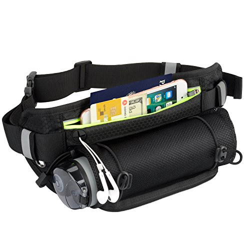 EooCoo Hiking Waist Pack with Water Bottle Holder,Waterproof Belt Pouch for Walking Running Jogging Cycling Camping Climbing Outdoor sports