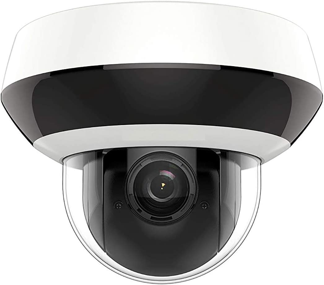 4MP HD PTZ Darkfighter Outdoor POE IP Camera, DT2A404, Pan/Tilt/2.8mm~12mm 4X Optical Zoom, 4-Megapixel (2560x1440),Night Vision 20m,SD Card Recording,Audio Input Output,IP66 and IK10, H.265+