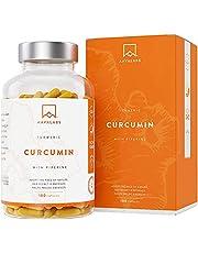 Kurkuma Curcuminecomplex & Zwarte Peper 600 Mg Per Capsule - 95% Kurkuma-extract & Piperine - 180 Capsules - Sterk & Maximale Opname - Veganistisch, GGO-vrij - Onafhankelijk Getest - Vervaardigd in EU