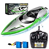 RC Boat [Upgraded 2021] - SHARKOOL 2.4 GHZ 25+ MPH Remote Control...
