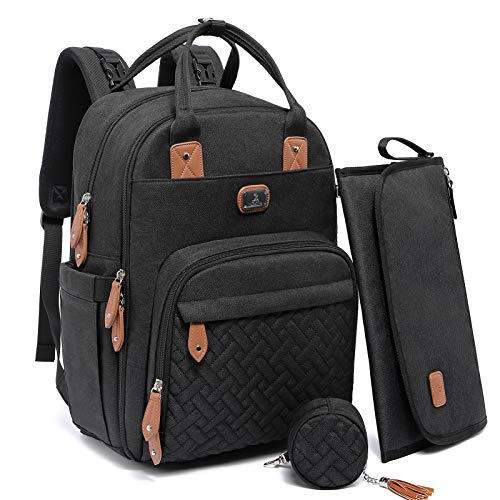 Changing Bag Backpack, Dikaslon Large Nappy Back Pack Multifunction Baby Bags with...