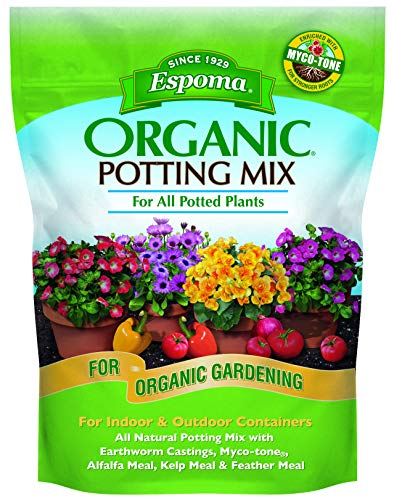 Espoma Potting Mix, Natural & Organic, for Indoor & Outdoor Potted Plants, 8 qt,...