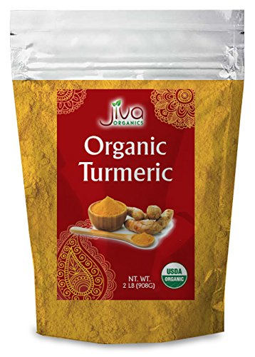 Organic Turmeric Root Powder 2 lb Bag with Curcumin & Non-GMO - Lab Tested for Heavy Metals - by Jiva Organics (32 oz)
