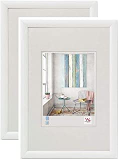Walther design KP045WD Photo Frames, White, 11.75 x 17.75 Inch (30x45 cm), Double Pack