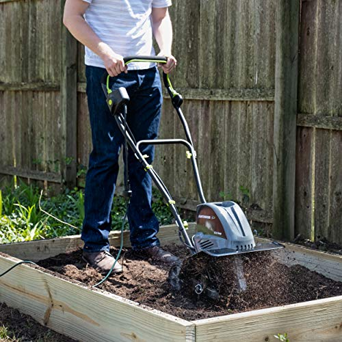 Earthwise TC70016 16-Inch 13.5-Amp Corded Electric Tiller/Cultivator, Grey
