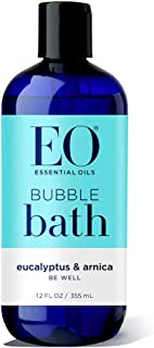 EO Botanical Bubble Bath, Be Well, Eucalyptus and Arnica, 12 Ounce (Pack of 2)