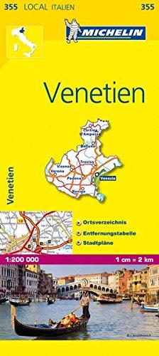 Michelin Venetien: Straßen- und Tourismuskarte 1:200.000 (MICHELIN Localkarten)