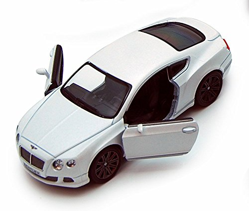Kinsmart 2012 Bentley Continental GT Speed, White 5369D - 1/38 Scale Diecast Model Toy Car, but NO Box