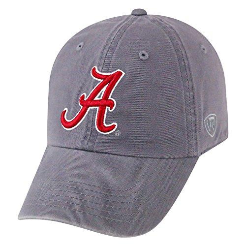 Top of the World NCAA Herren College Town Crew Mütze, verstellbar, Baumwolle, Alabama Crimson Tide-Grey