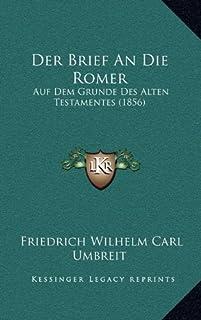Der Brief an Die Romer: Auf Dem Grunde Des Alten Testamentes (1856)