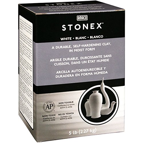 AMACO Darice STONEX Clay 5 LB AIR Dry White