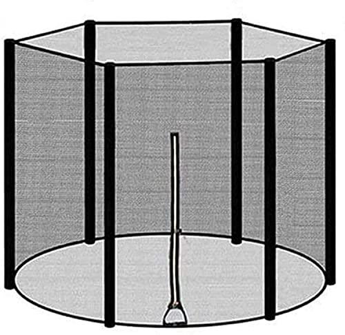 VULLDWS Red de Seguridad para la Red de reemplazo de trampolín Red Redonda Neta para el jardín de la Red de reemplazo de trampolín con Cremallera y Hebillas, 306/366/396/427/430 cm para 6/8 Postes
