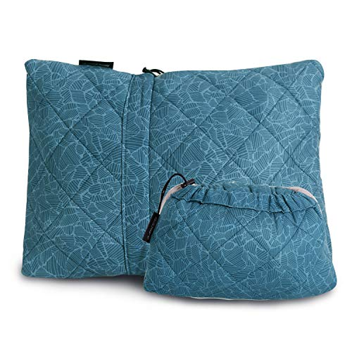 REDCAMP Compressible Small Camping Pillow Lightweight, Compact Foam Travel Pillow with Removable Pillow Cover, Blue