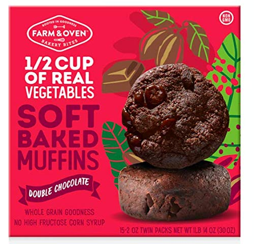 Farm & Oven Double Chocolate Soft-Baked Muffins - 15 Pack