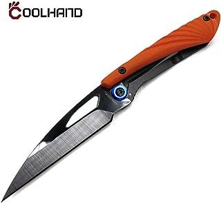 Cool Hand 3'' Super Light Folding Pocket Knife, Liner Lock, 2'' Black Ceramic or Damascus Blade with G10 or Carbon Fiber Scale