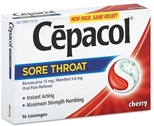 Cepacol Extra Strength Sore Throat & Cough Drop Lozenges, Cherry 16ct