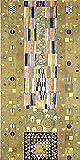 Artland Alte Meister Kunst Wandtattoo Art Nouveau Gustav Klimt Wandbilder Klebefolie Werkvorlage zum Stocletfries Schmalwand 40 x 20 cm Kunstdruck Deko Art R0FR