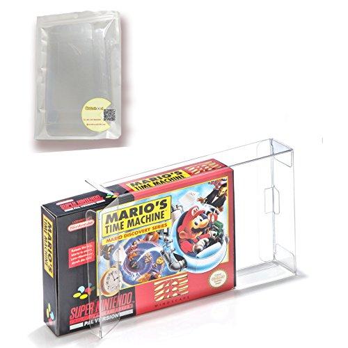 Childhood 10Pcs Clear Case Boîtier CIB Protecteur pour SNES N64 Jeux Cartridge Box