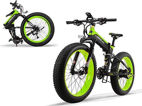 Elektrofahrrad E-Bike Mountainbike Klapprad E-Mountainbike 26zoll mit 48V 12.8AH Lithium-Akku, 500W Motor 40 km/h,Shimano 27 Geschwindigkeiten, Elektrische E-Bike für Herren Damen[EU Stock]
