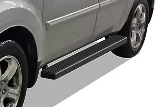 APS iBoard Running Boards 6 inches Matte Black Custom Fit 2009-2015 Honda Pilot Sport Utility 4-Door (Nerf Bars Side Steps Side Bars)